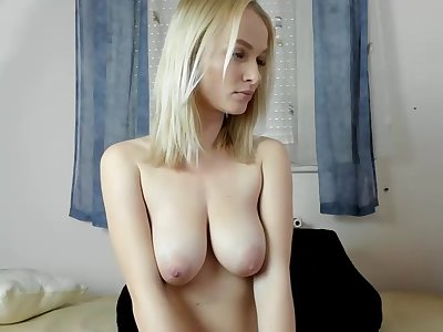 Sexy Busty Blonde Teen Fingering