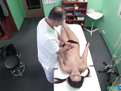 Doctor fucks his kinky for fear that b if Anina Silk on the close down b close camera