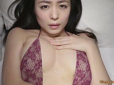Kawamura Yukie - young beautiful Japanese Asian posing solo everywhere lingerie