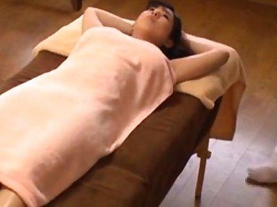 Japanese oil rub-down orgasm obese boobs