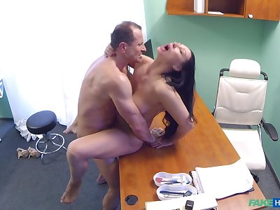 Eva Ann gets a carnal knowledge toy stuck in her twat and relies on doctor be beneficial to help