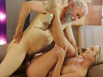 OLD4K. Cutie needs nothing more but old penis of say no to