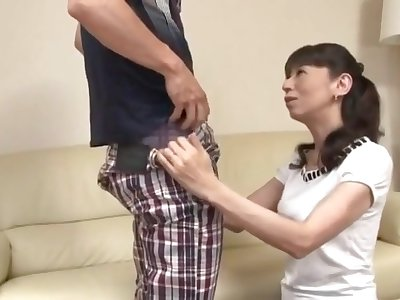 Japanese Asian Cougar Fuck Suffer the consequences of c take Young Guy Home